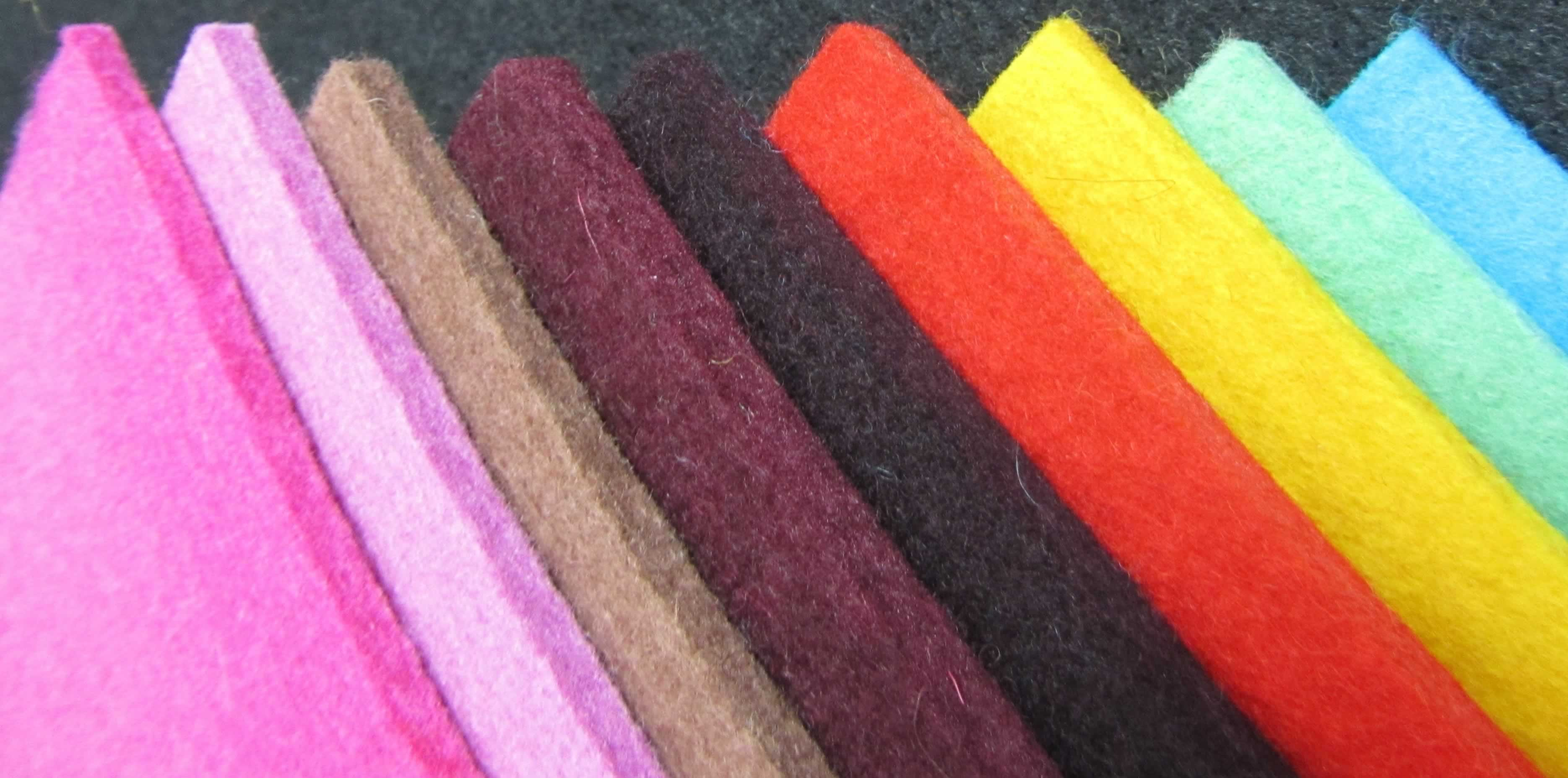 Colored Wool Felt