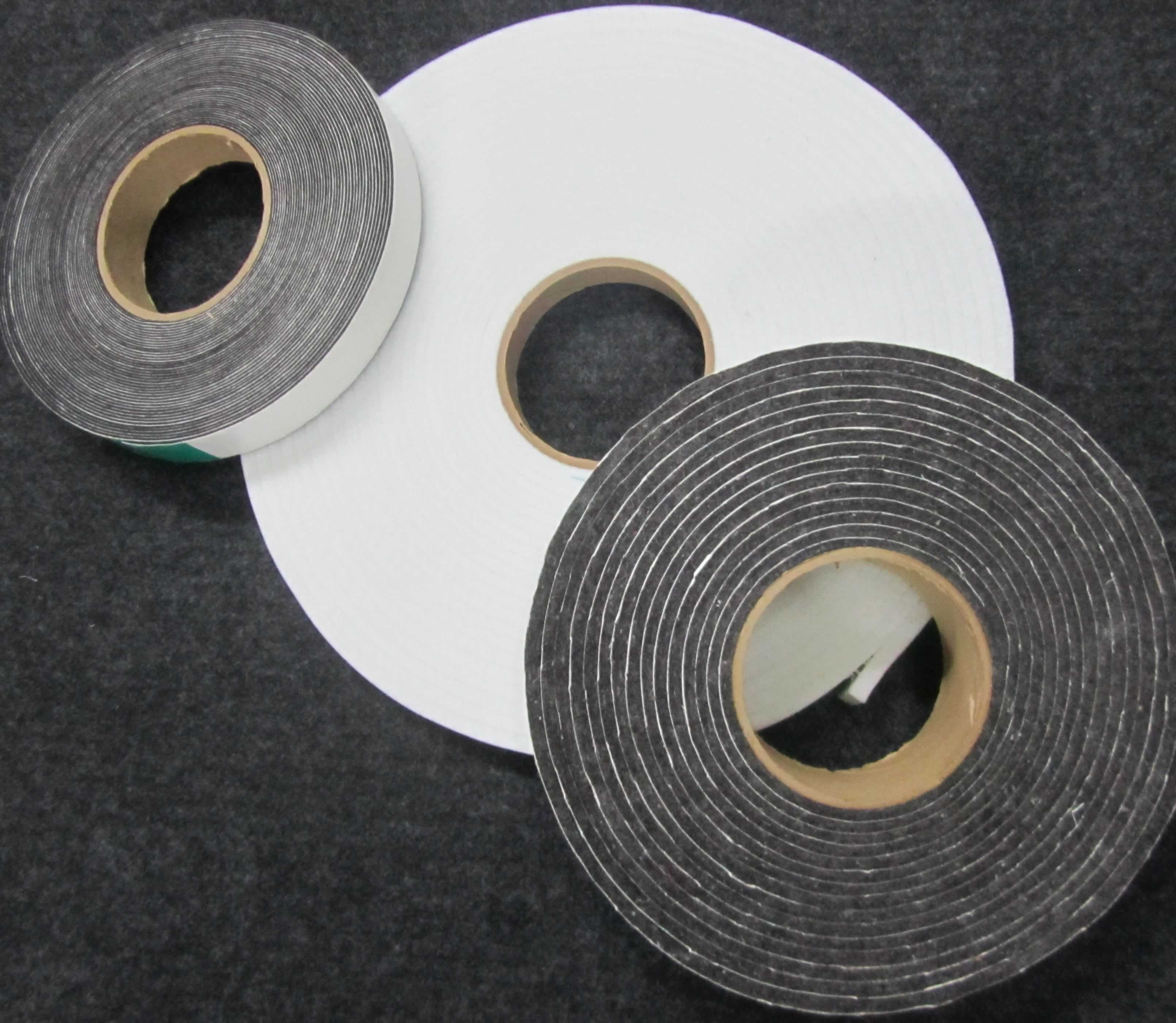 Adhesive felt transformed into felt tape with slitting services